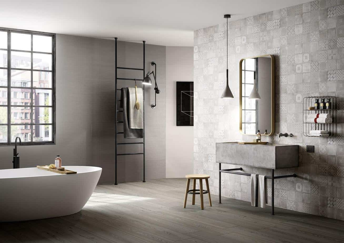 bathroom trends 2021 industrial chic style interior