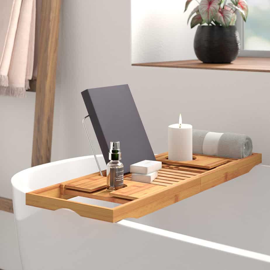 bathroom decor 2021 wood caddy