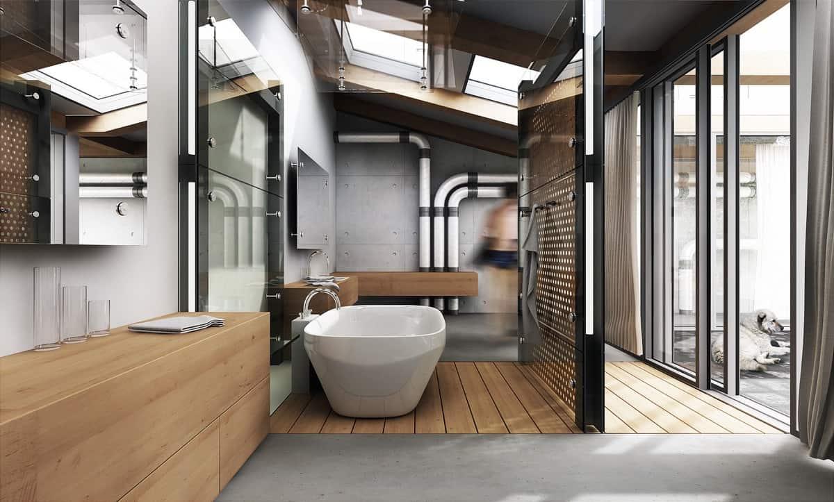 bathroom design 2021 retro industrial style interior