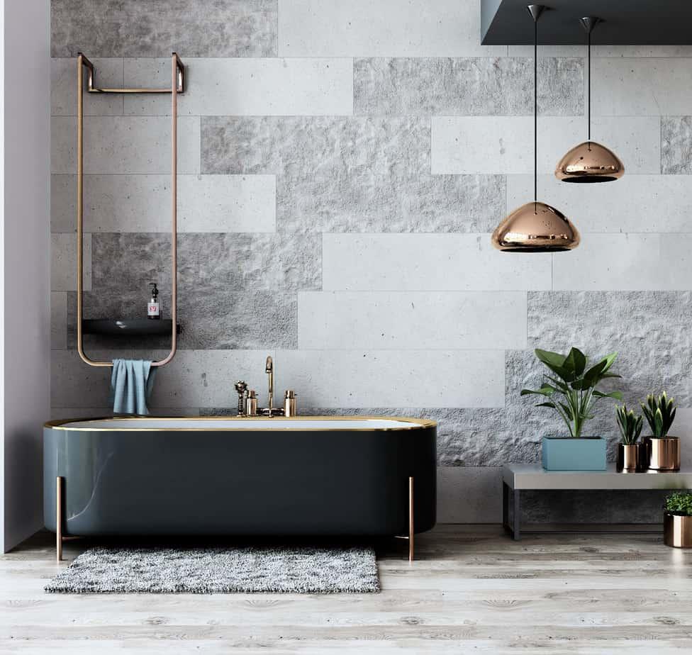 Bathroom designs 2021 luxurious black bathtub