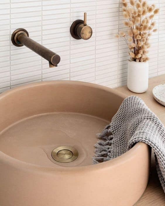 bathroom ideas 2021 round ceramic sinks