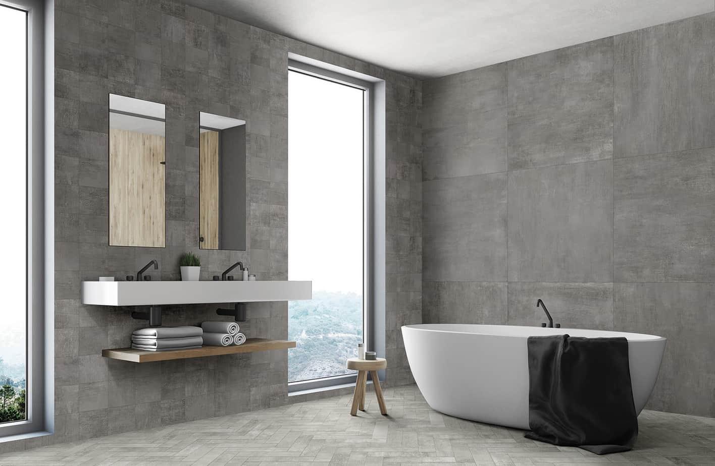 bathroom trends 2021 open-space interior
