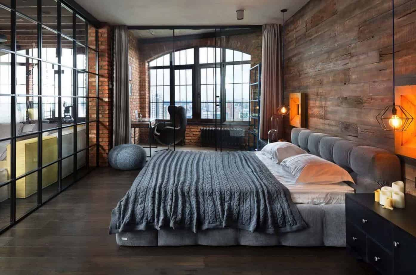 bedroom design ideas 2021 modern rustic industrial style interior