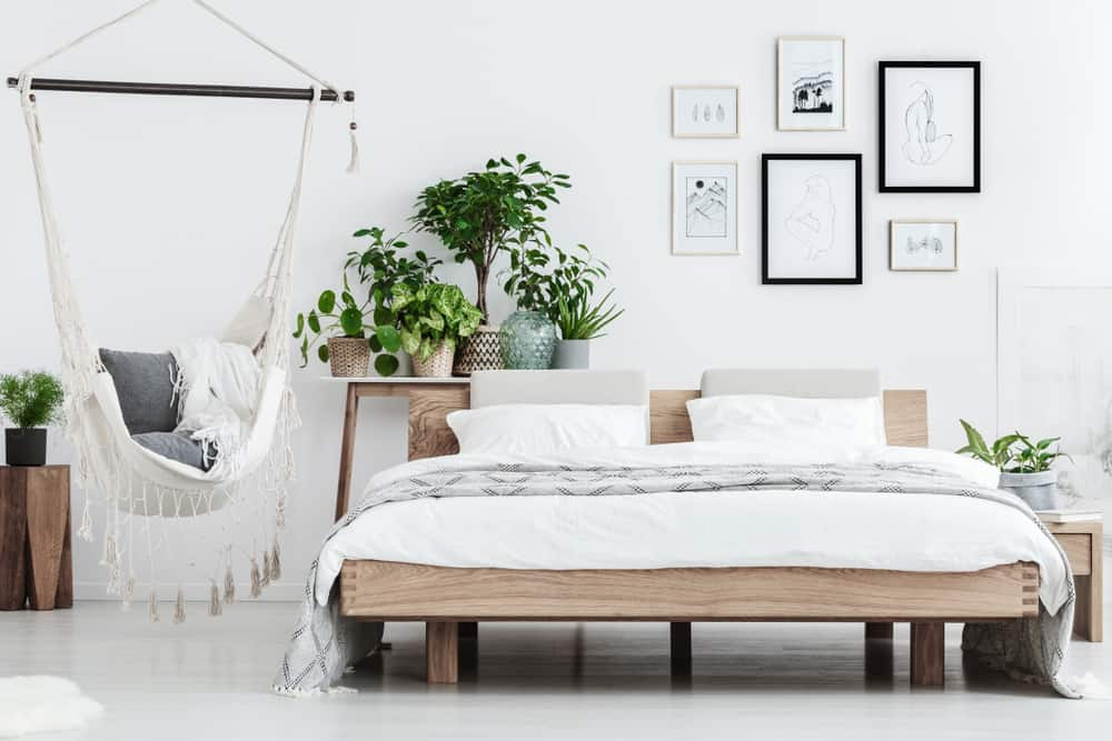 bedroom ideas 2021 plants and natural materials