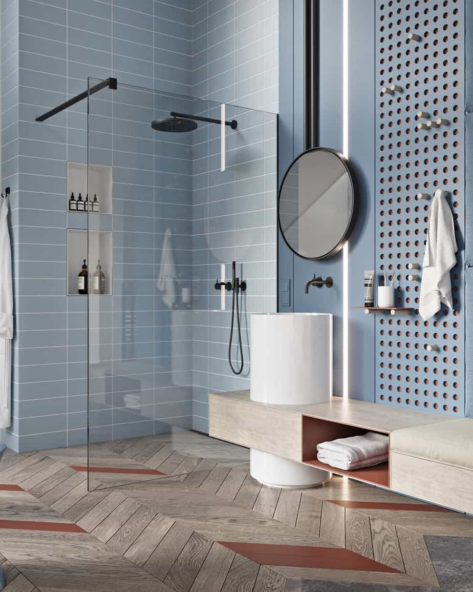 blue bathroom design 2021