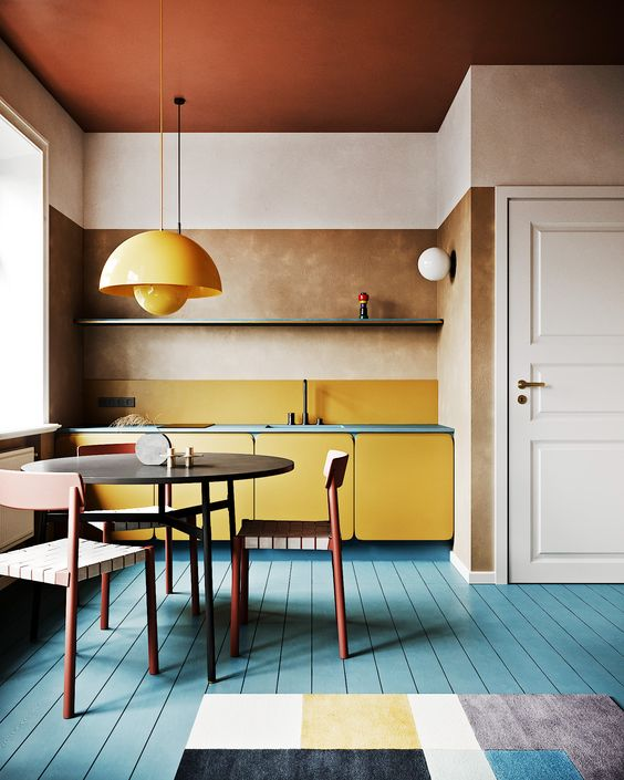 Trending colors for small kitchen 2021