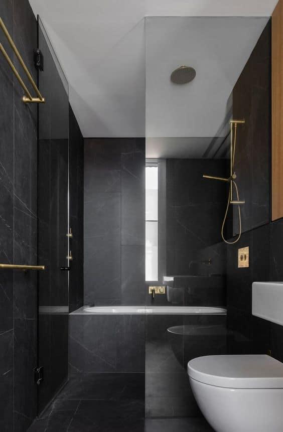 Dark colored Bathroom Design 2021