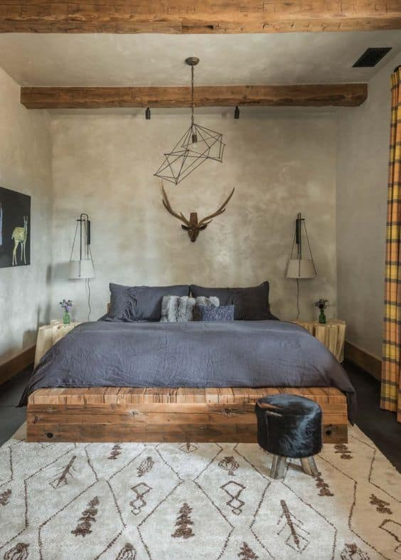 house interior 2021 modern rustic bedroom style