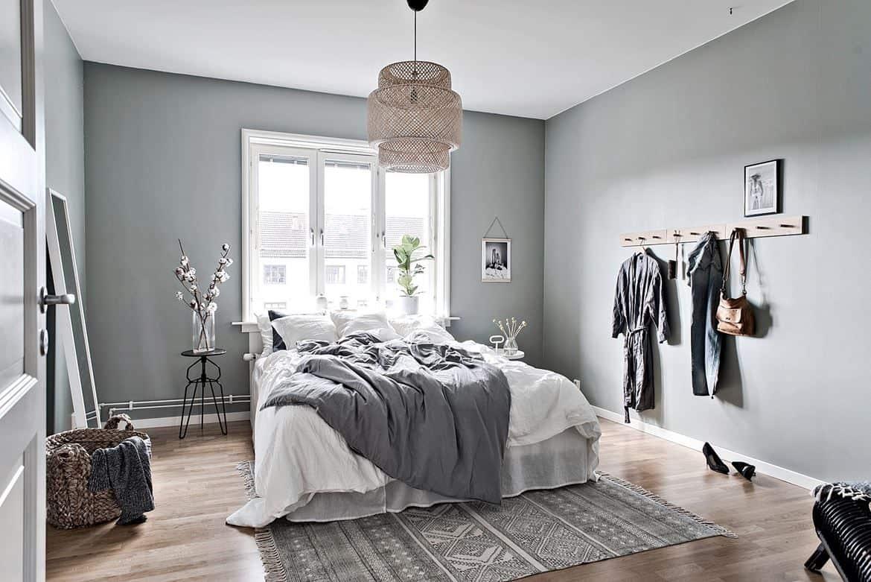 house interior 2021 Scandinavian style bedroom