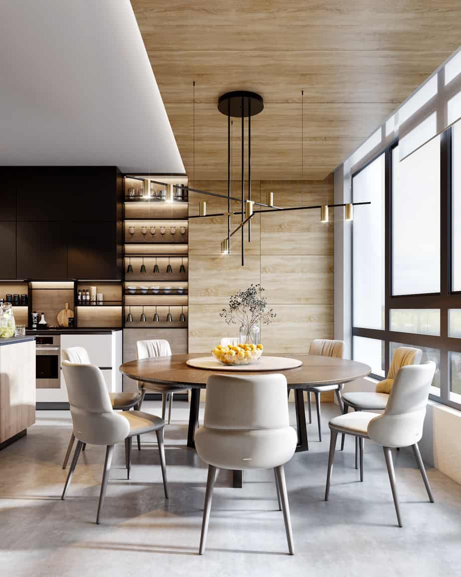 dining room trends 2021 wooden round tables and modern chairs