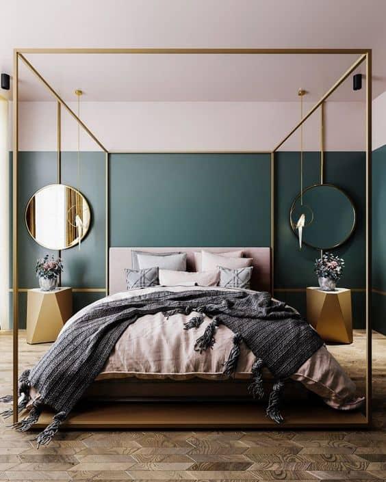 house interior 2021 art deco style bedroom