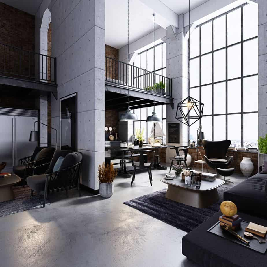house interior 2021 contemporary industrial chic
