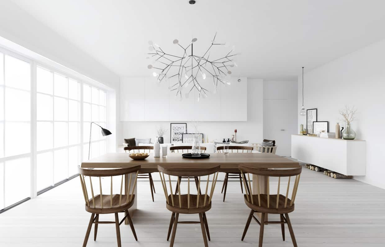 Interior design trends 2021 modern Scandinavian dining room design 2021