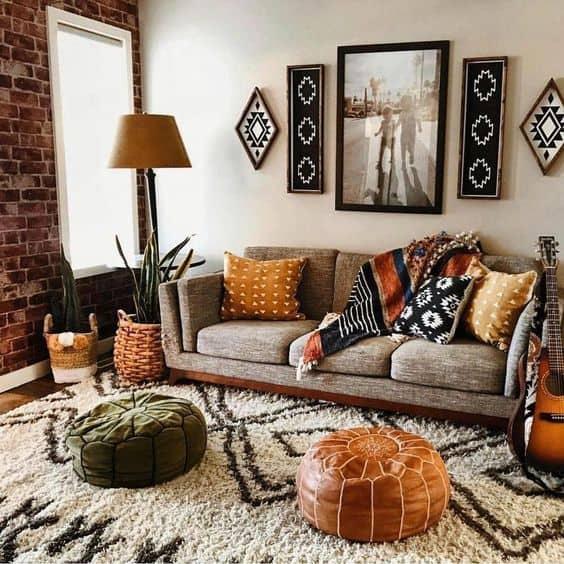 interior trends 2021 boho chic living room