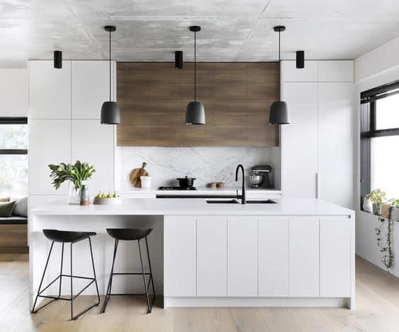 house interior 2021 contemporary minimal style kitchen