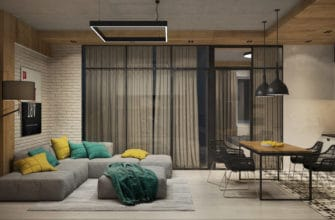 house interior 2021 industrial chic style apartment