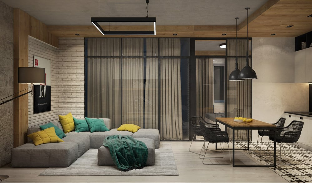 interior trends 2021 modern industrial chic apartment