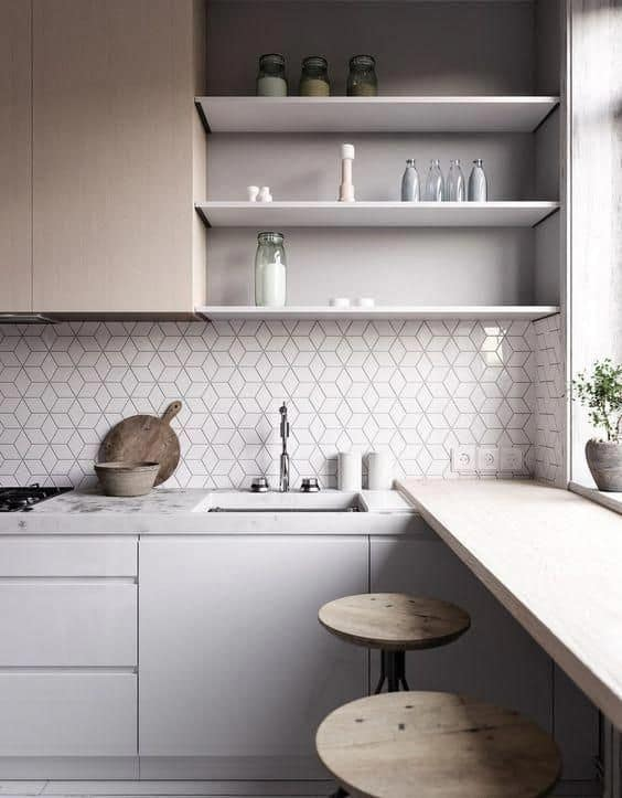 ceramic tiles for backlash small kitchen design 2021