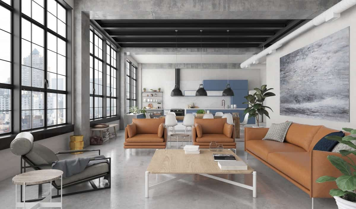 living room 2021 industrial chic style