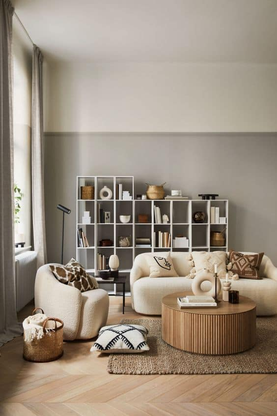 living room decor 2021 natural materials and eco-friendly furniture