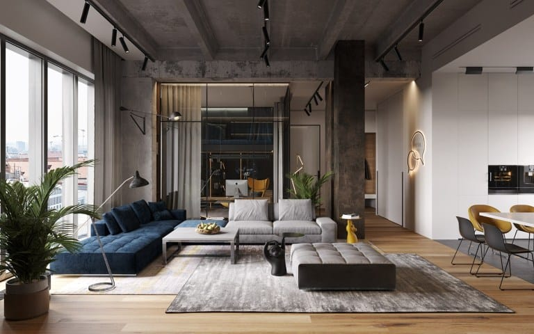 living room design ideas 2021 modern urban industrial