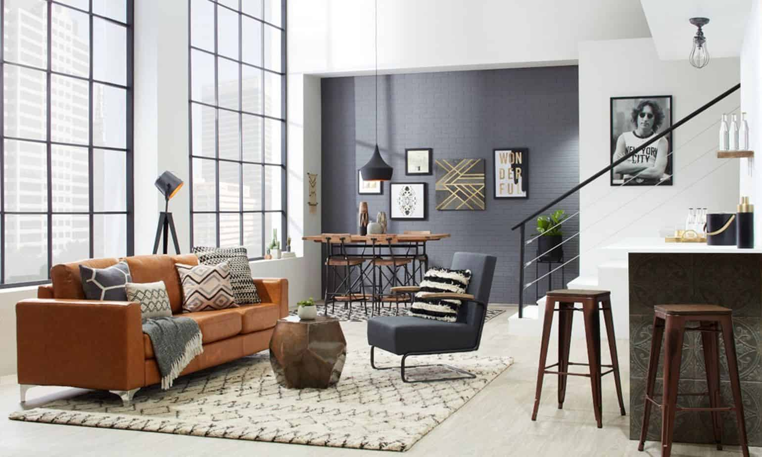 living room design ideas 2021 urban industrial style