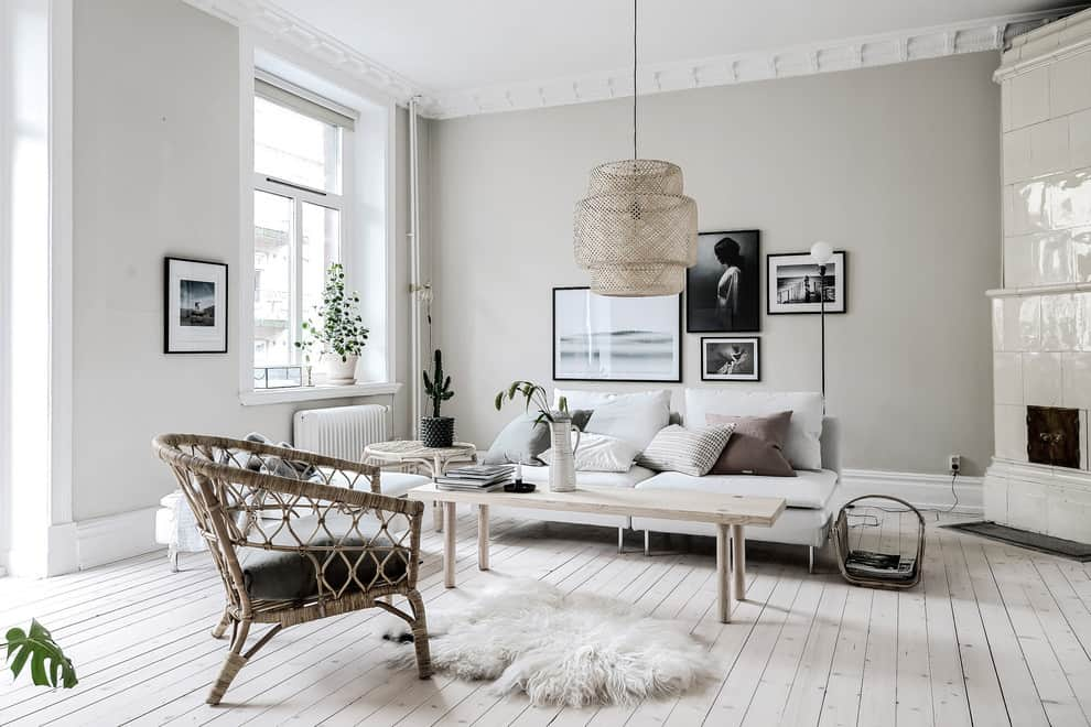 living room trends 2021 Scandinavian style living room