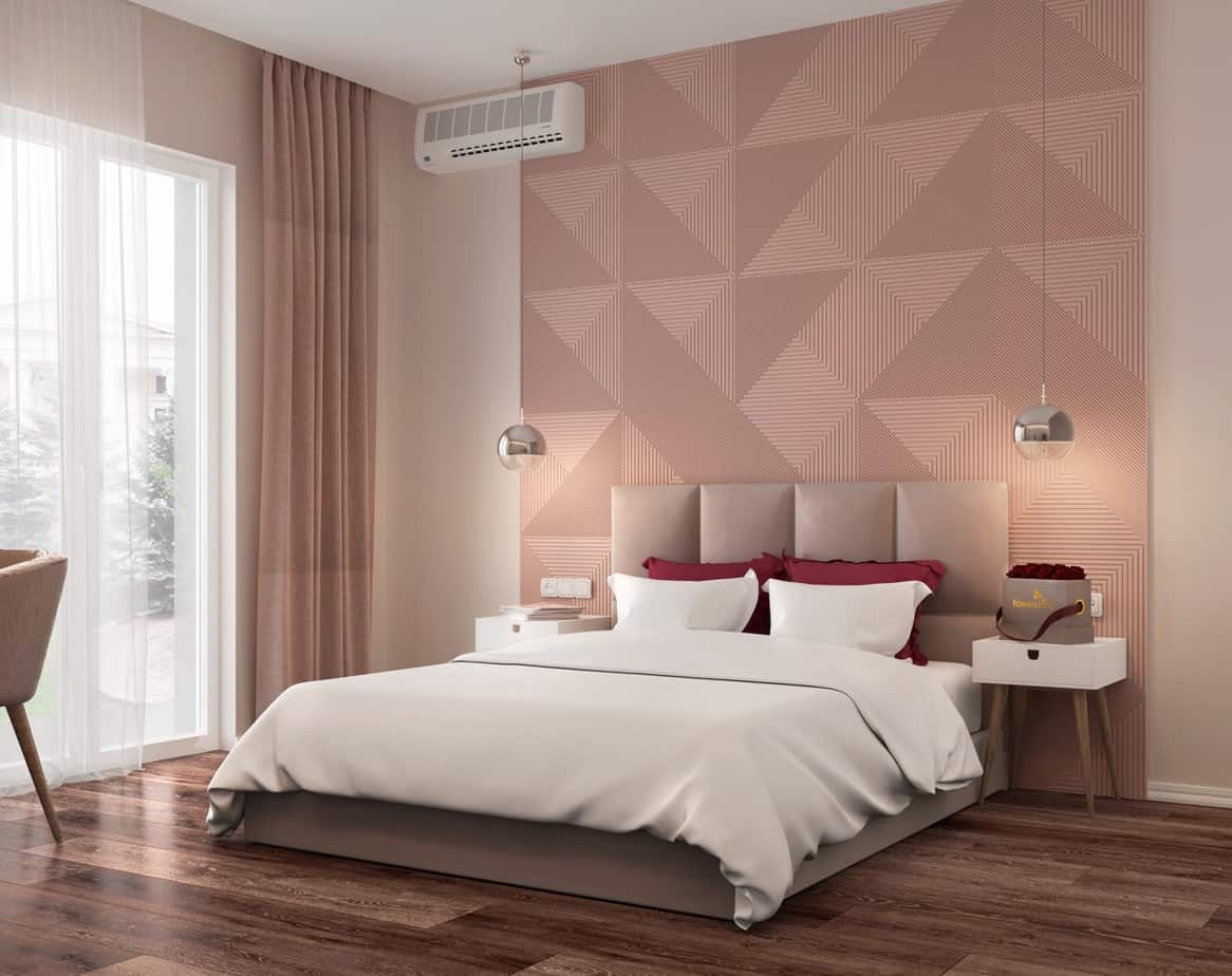 modern bedroom design trends 2021 statement wall
