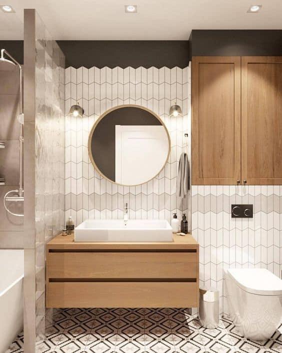 Modern Tiles for Small Bathroom Design 2021