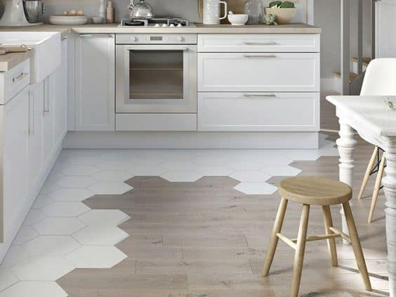 popular kitchen flooring 2021 combined materials