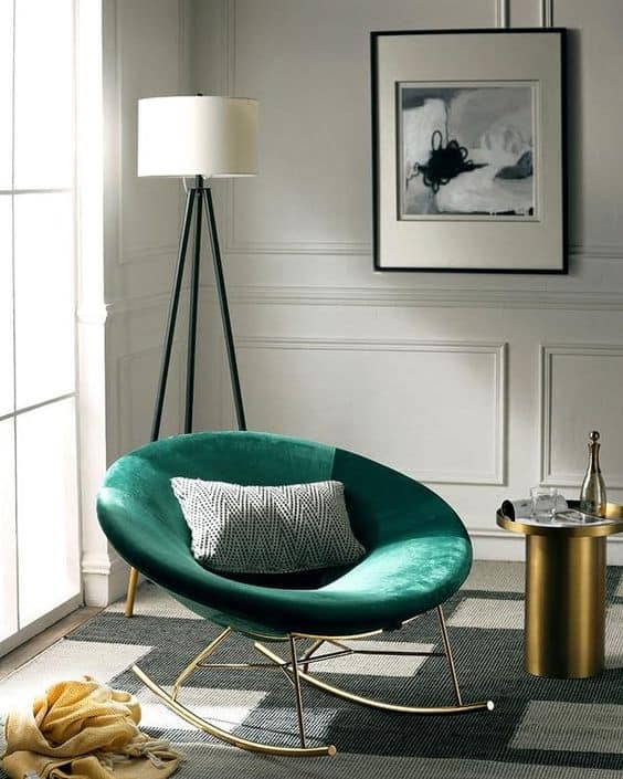 velvet statement chair for living room 2021
