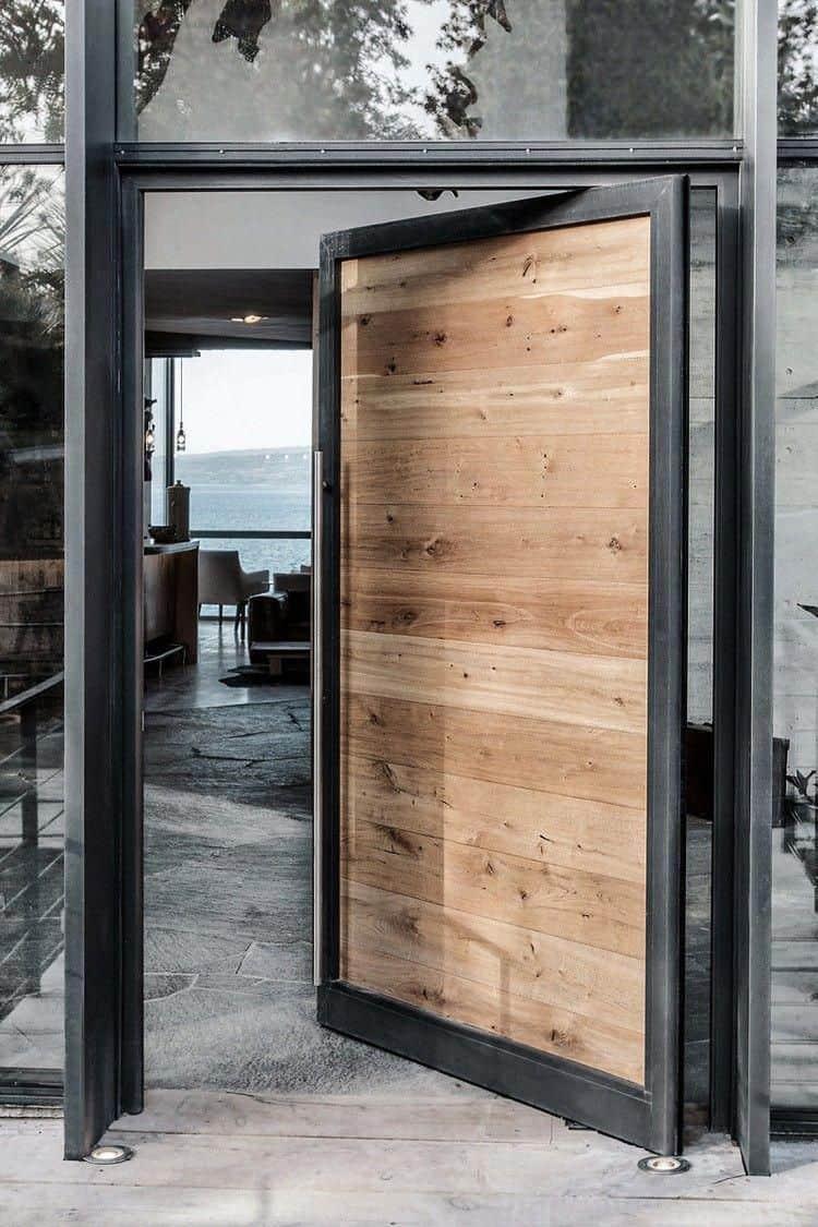 Wood Door Design 2021 Combined Materials