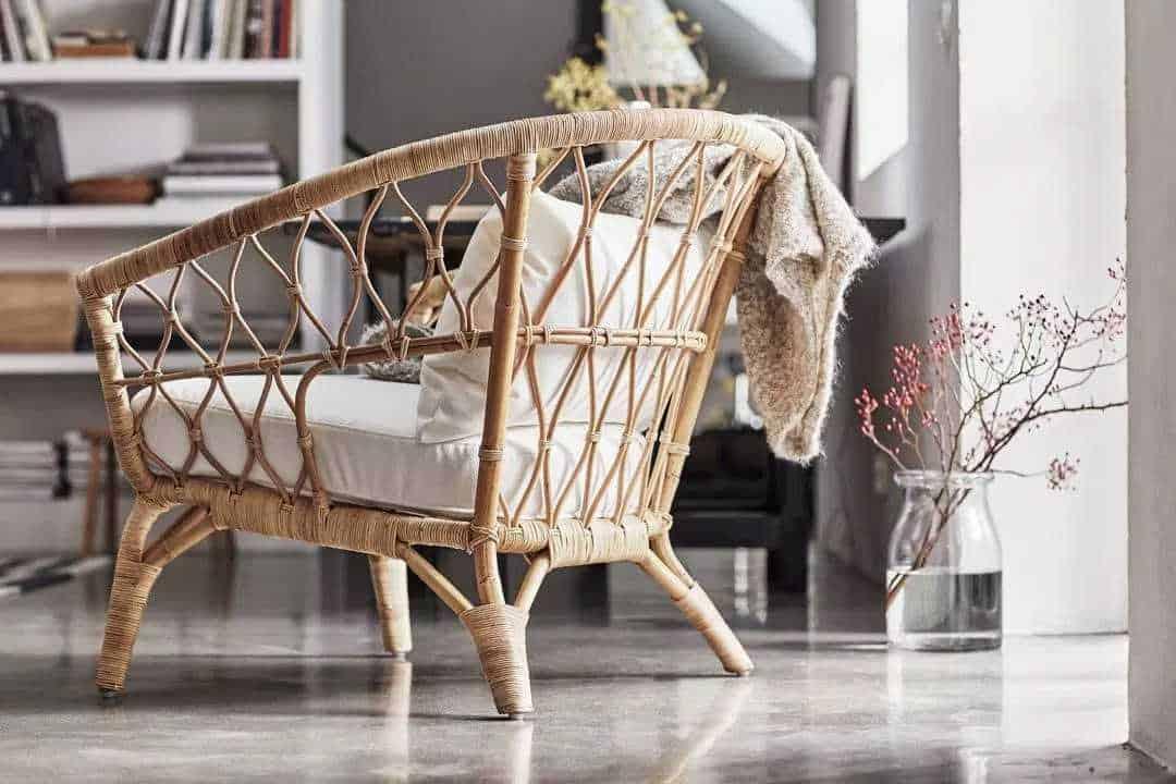 beautiful living room furniture 2021 rattan chair design