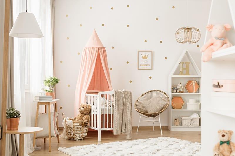 beautiful polka dot wallpaper for girls room 2021