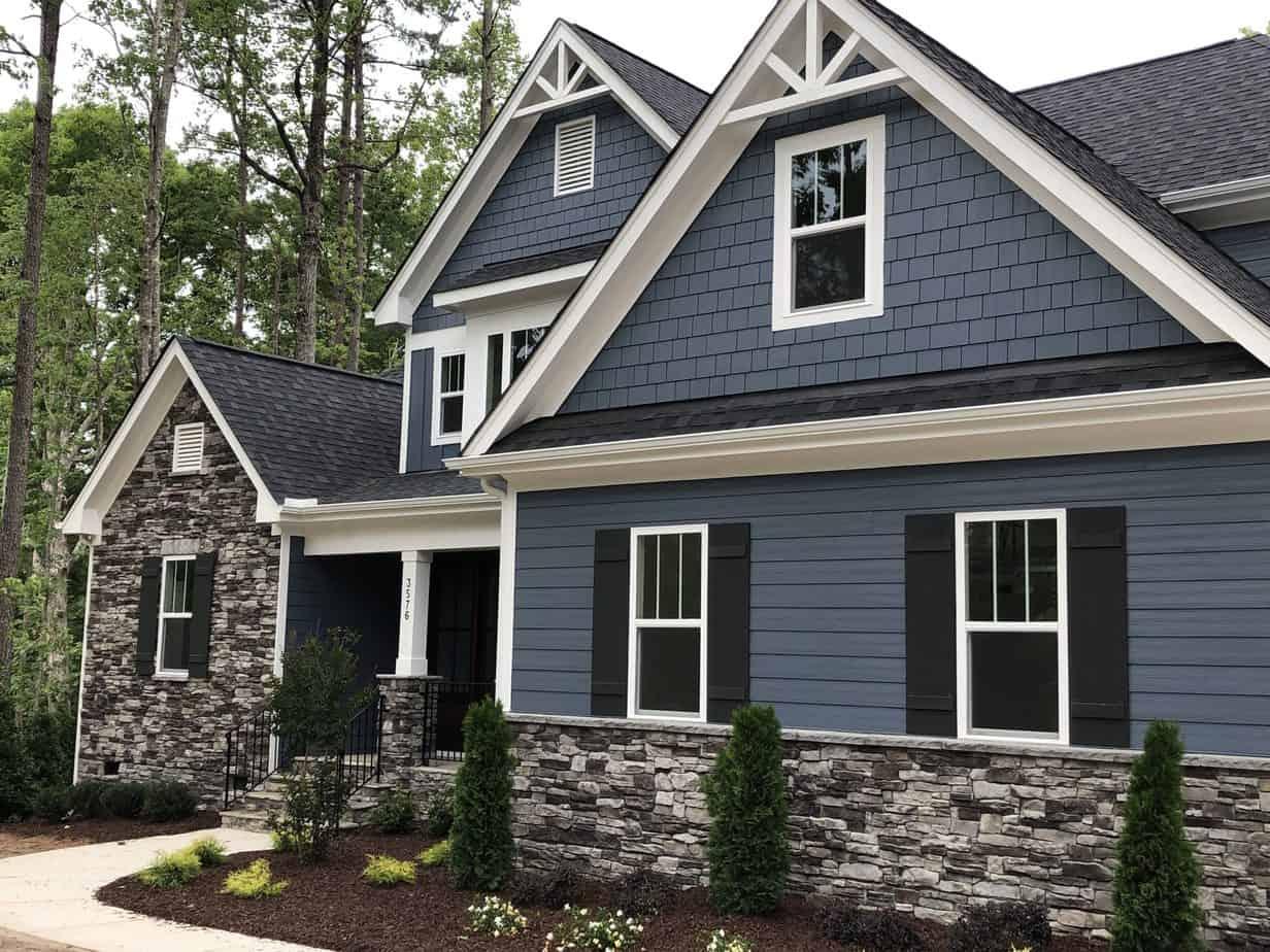 best exterior paint trends 2021 blue grey color house