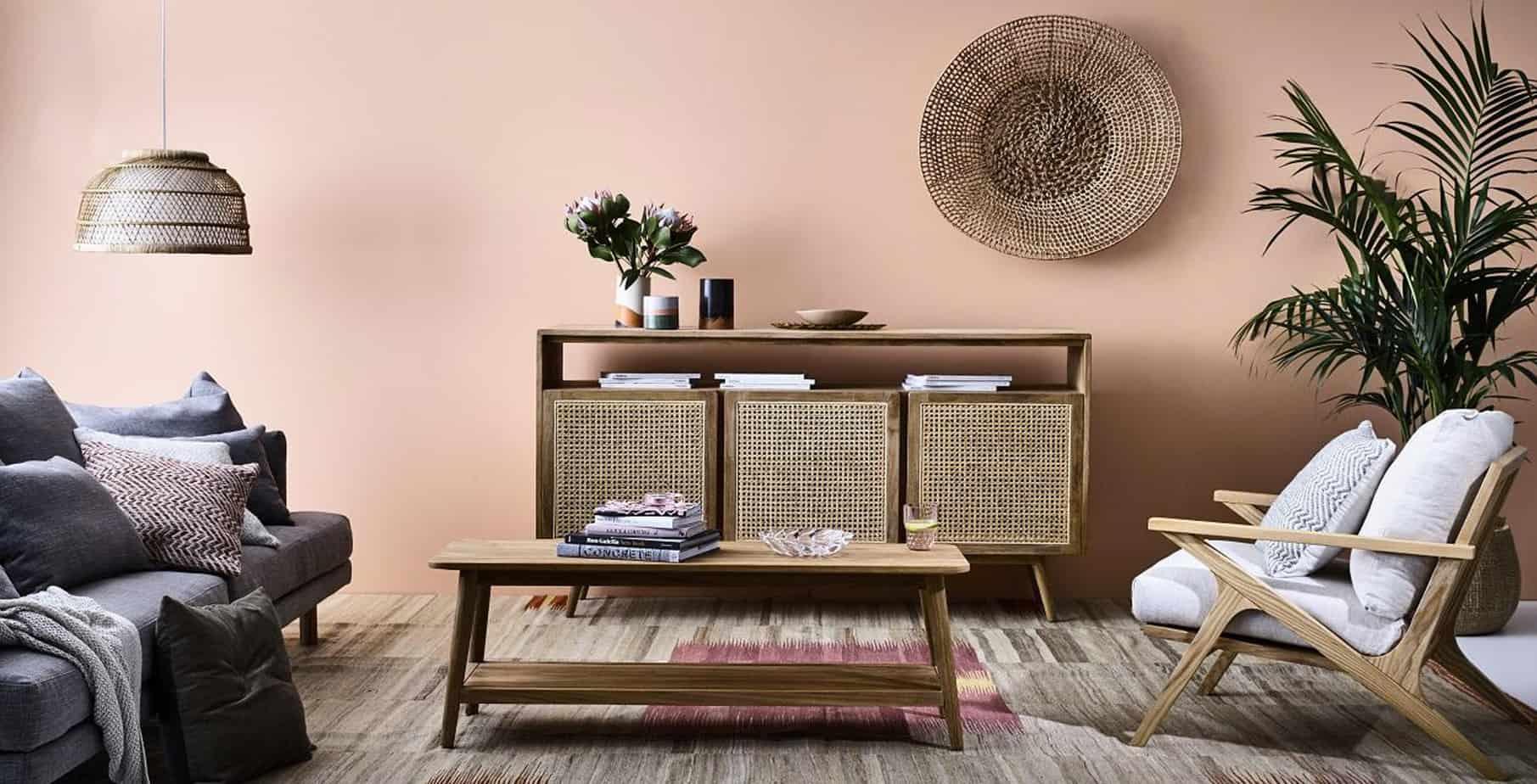 best living room furniture trends 2021 rattan, wicker, cane furniture