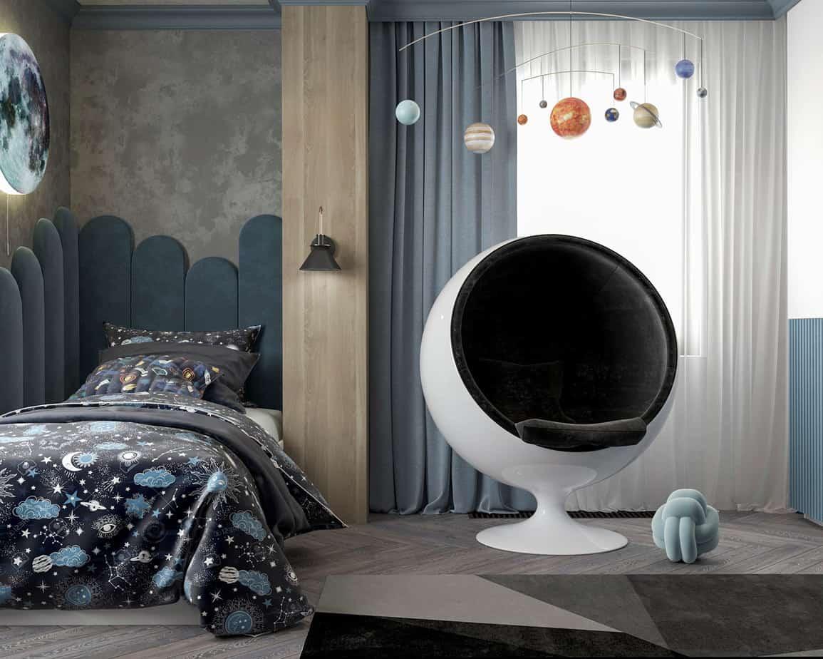boys bedroom 2021 space theme interior design