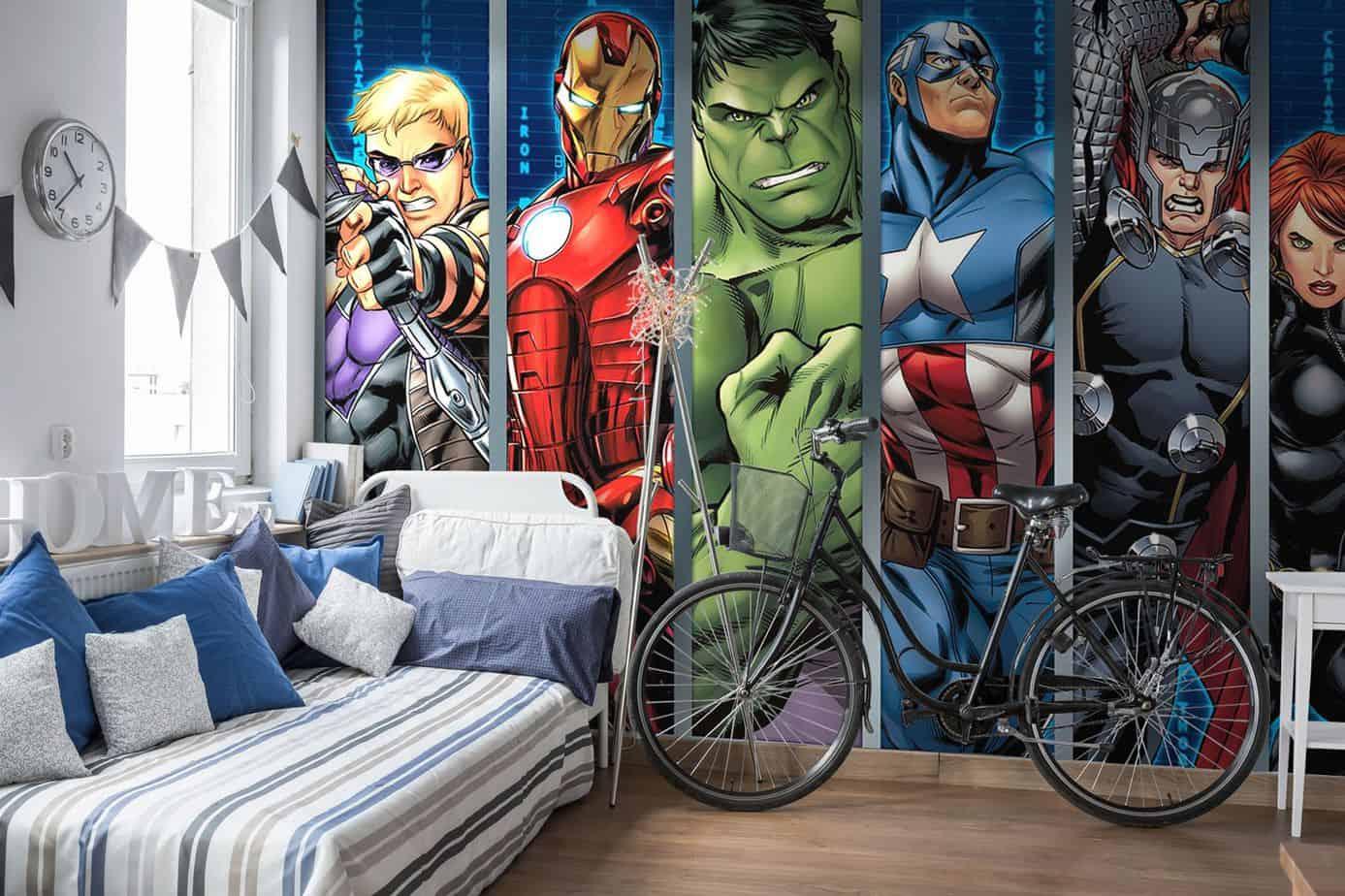 boys room ideas 2021 avengers inspired wallpaper