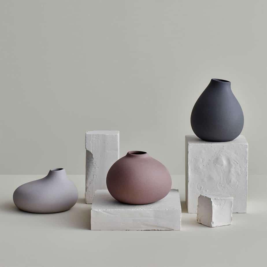 eco friendly home decor 2021 matte ceramic flower vases