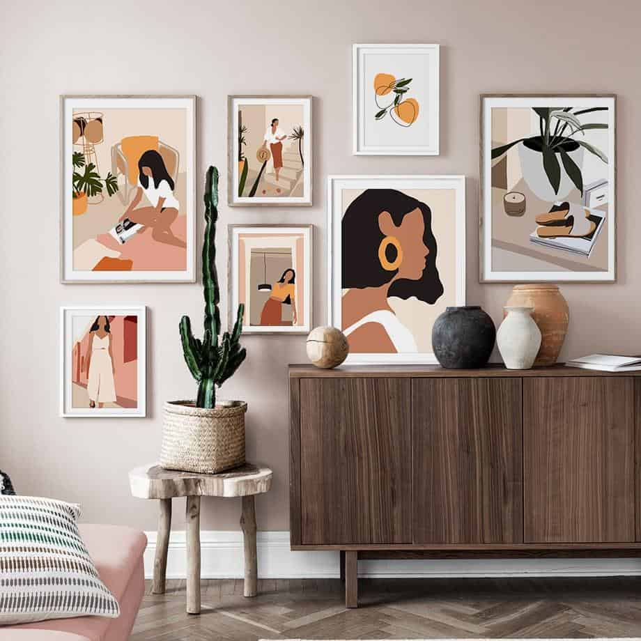 home decor trends 2021 wall decor abstract line art
