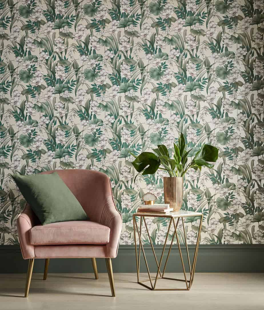 top home design ideas 2021 botanical and exotic wallpapers
