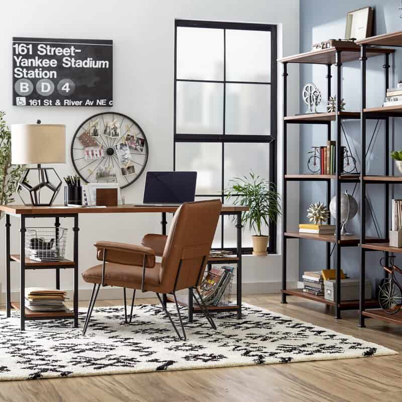 home office decor 2021 industrial style elements