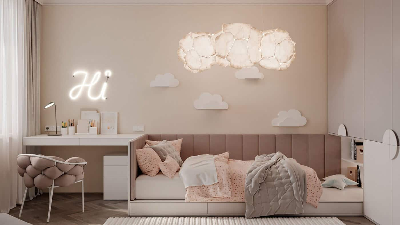 kids room decor 2021 cloud shape lights