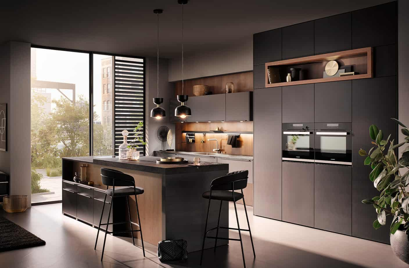 kitchen design 2021 elegant black interior