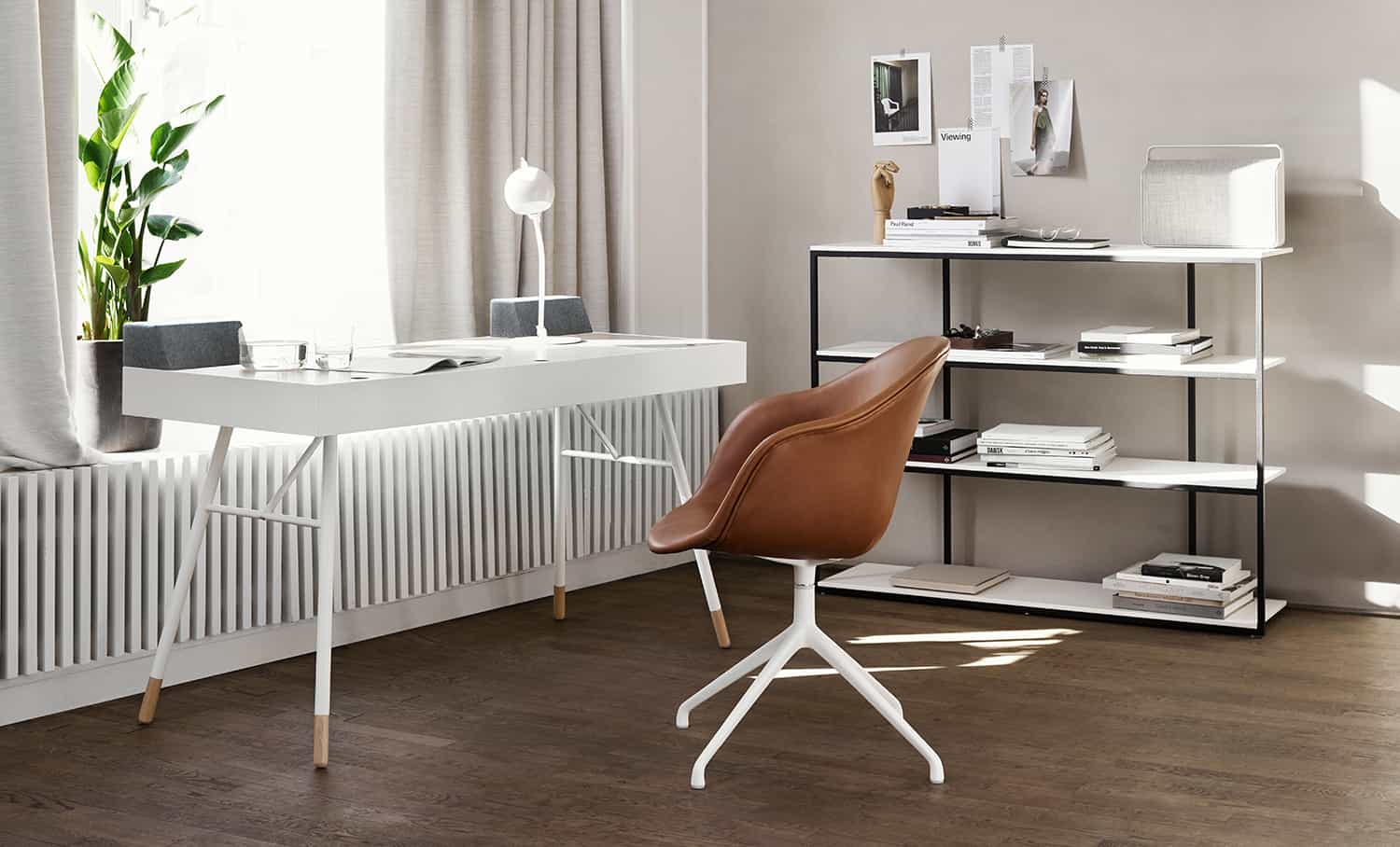 minimal style home office 2021 neutral colors