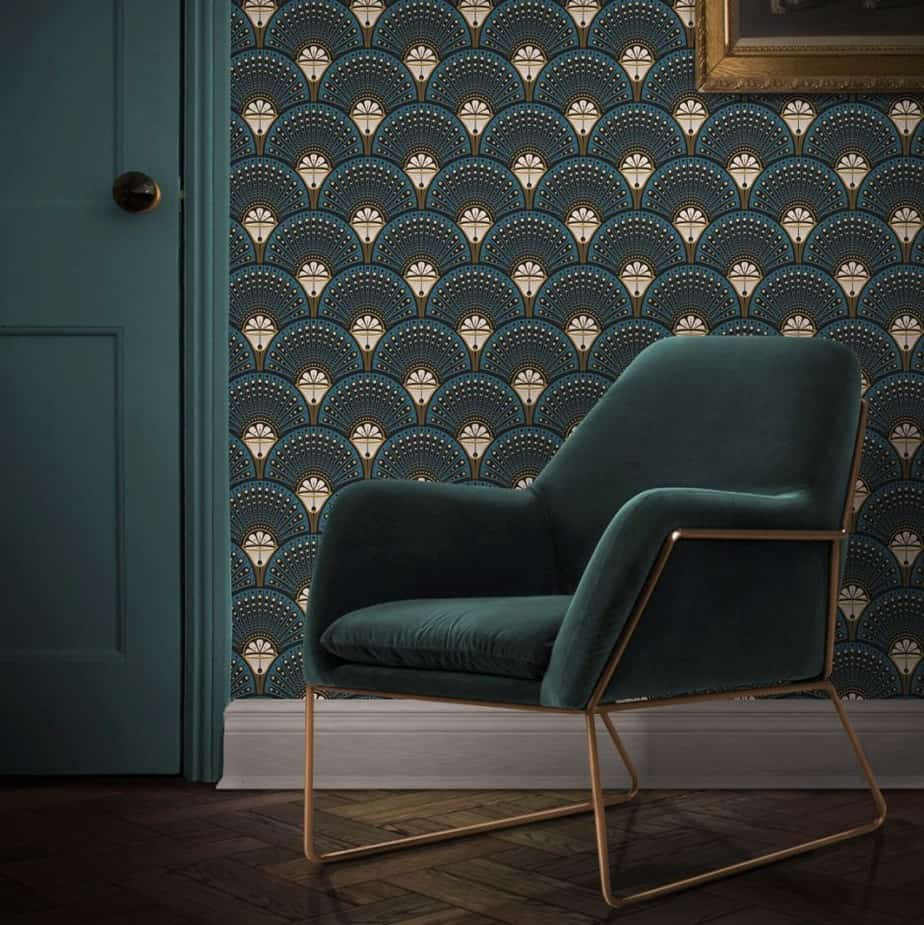 modern art deco wallpaper design 2021