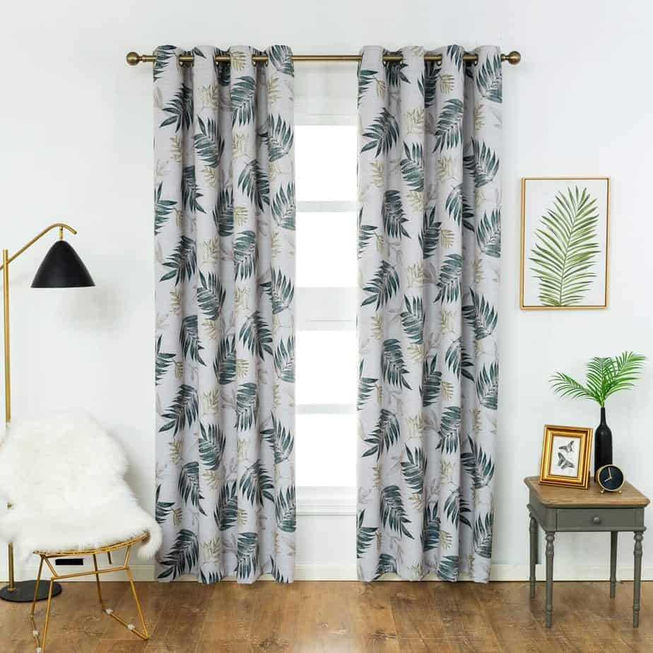 modern curtain design 2021 botanical print blackouts