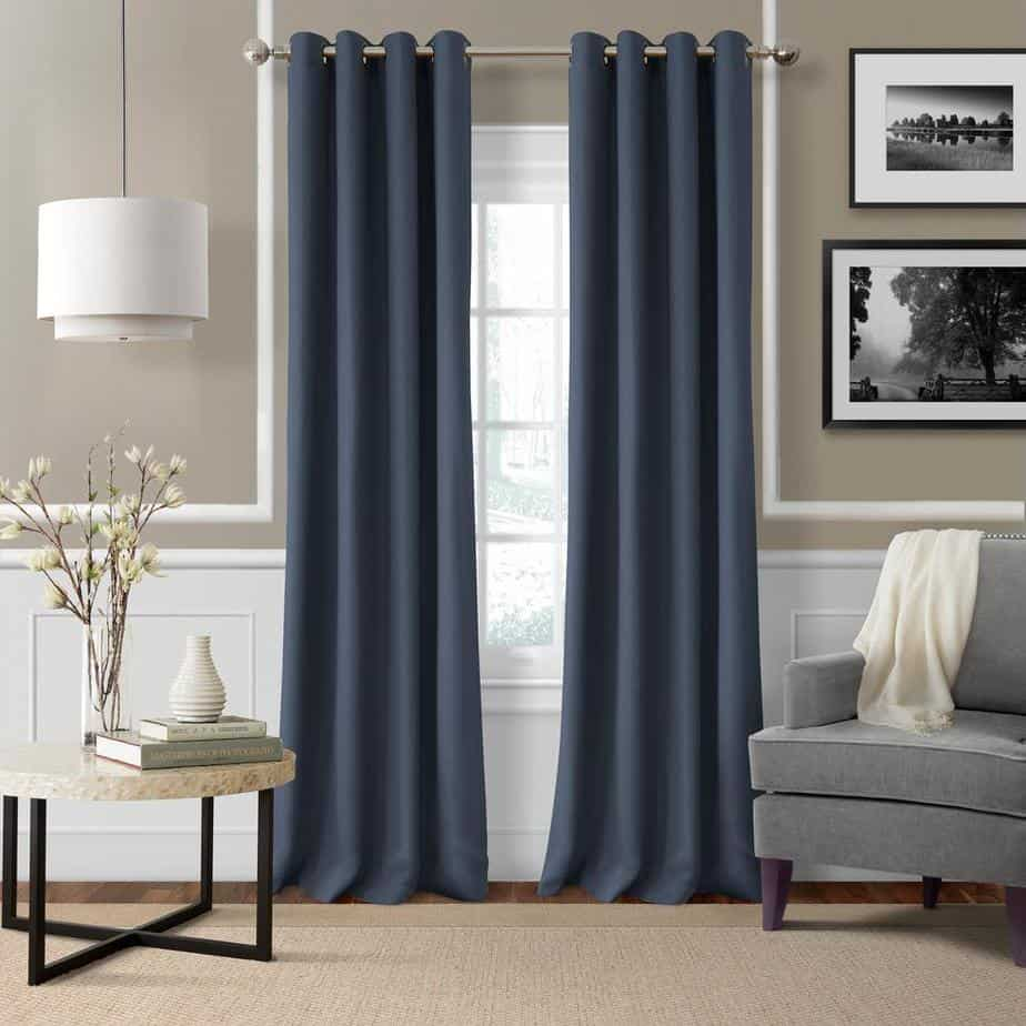 modern curtain trends 2021 earthy colors blue grey