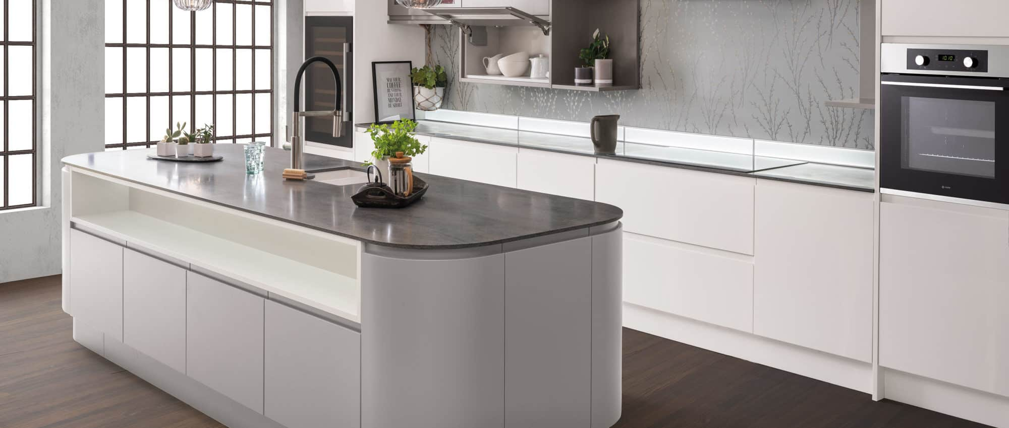 modern kitchen design 2021 curved kitchen island