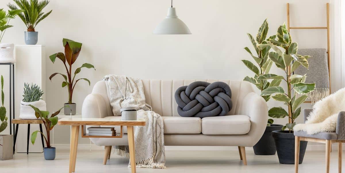 modern living room design 2021 eco-friendly natural materials